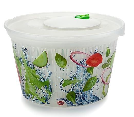 4 opinioni per Snips- Centrifuga per insalata Ulaop, in plastica trasparente, colore: