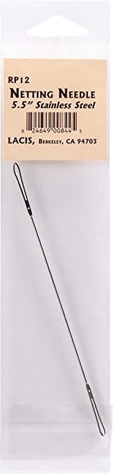 """Lacis Stainless Steel Netting Needle-6/"""""""