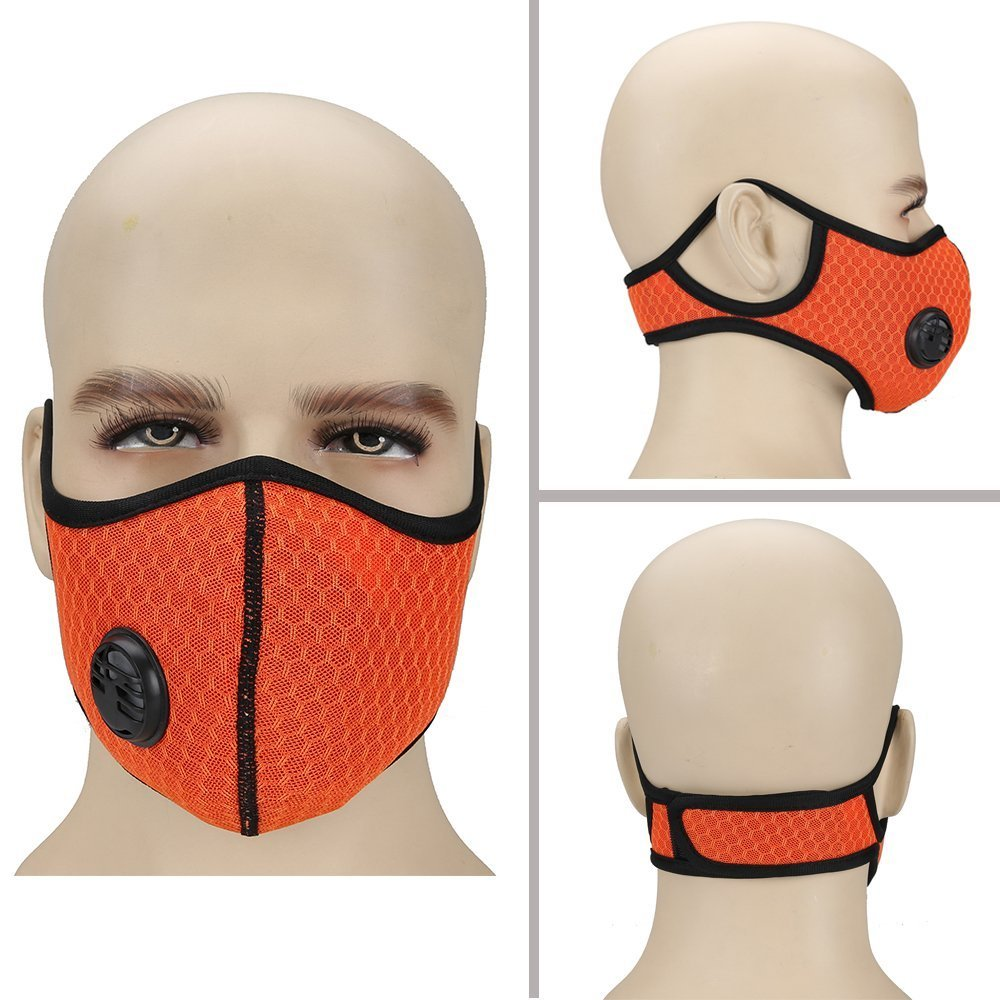 Ligart Air Filter Face Mask, Upgrade Dust Mask with Earloop Adjustable N99 Activated Carbon Mask Filters Filtration Exhaust Gas Anti Pollen Allergy PM2.5 Dustproof Mask for Running Outdoor Activities
