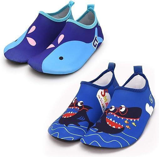 Vingi Kids Water Shoes Toddler Non-Slip Beach Barefoot Aqua Socks Lightweight Quick Dry Swim Shoes for Boys /& Girls