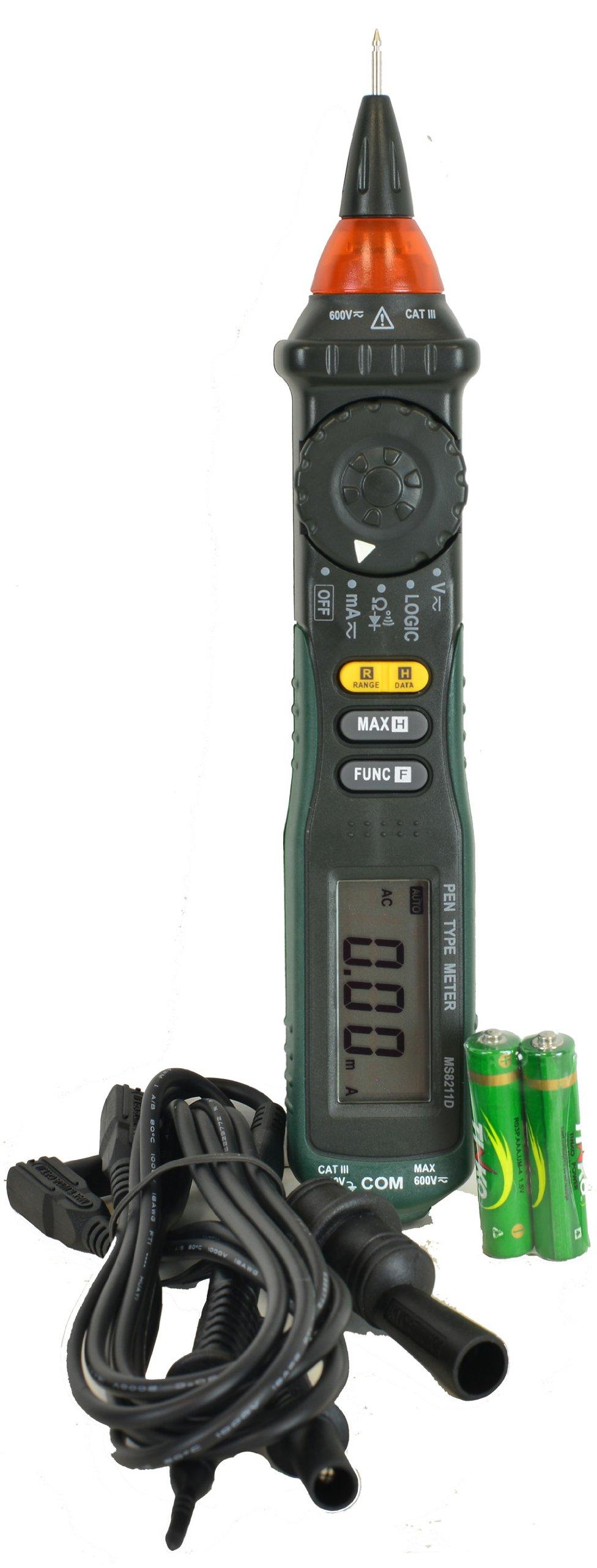 Tekpower MS8211D Auto Range Pen Type Digital Multimeter with Logic Test, OEM MS8211D¡