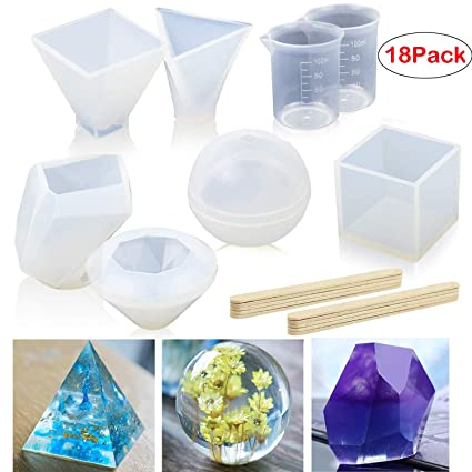 Form for making pendants Mould for epoxy resin and polymer clay Twisted prism silicone mold jewelry