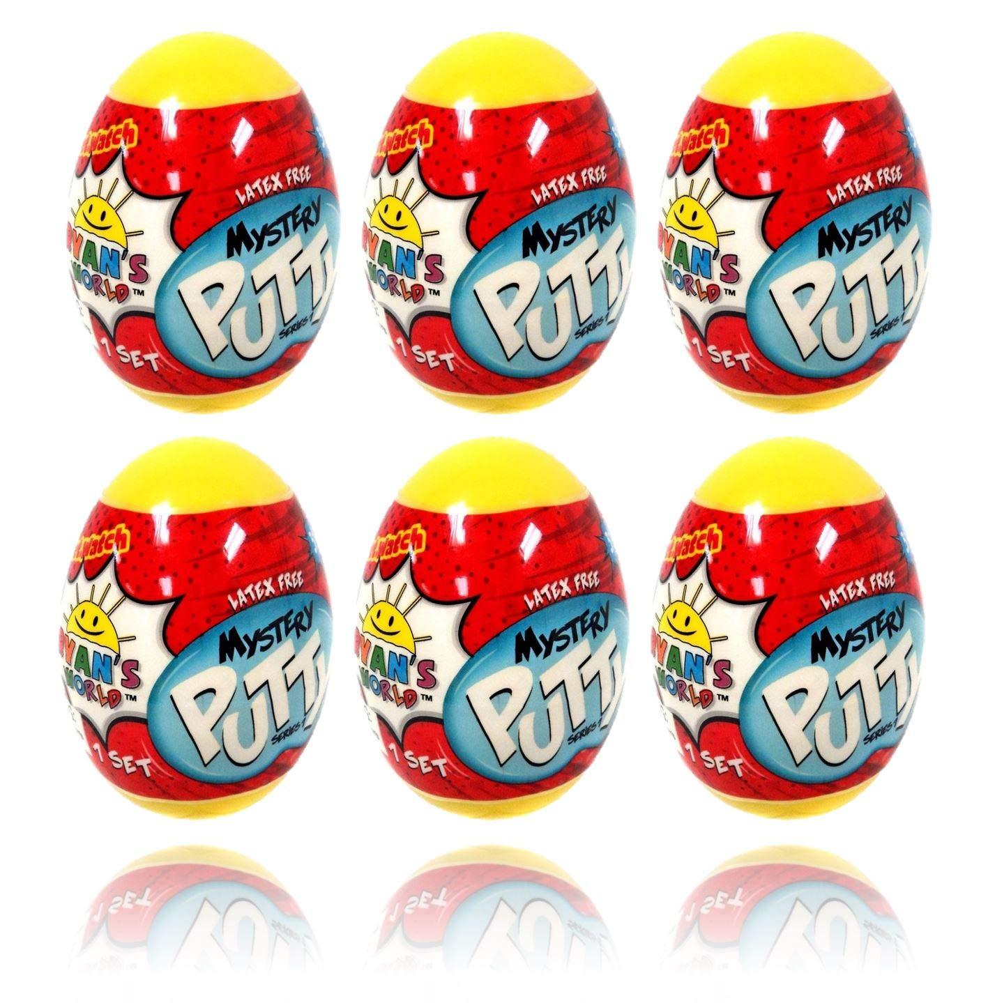 Ryan's World Mystery Putty 6 Pack (6 Small Eggs)