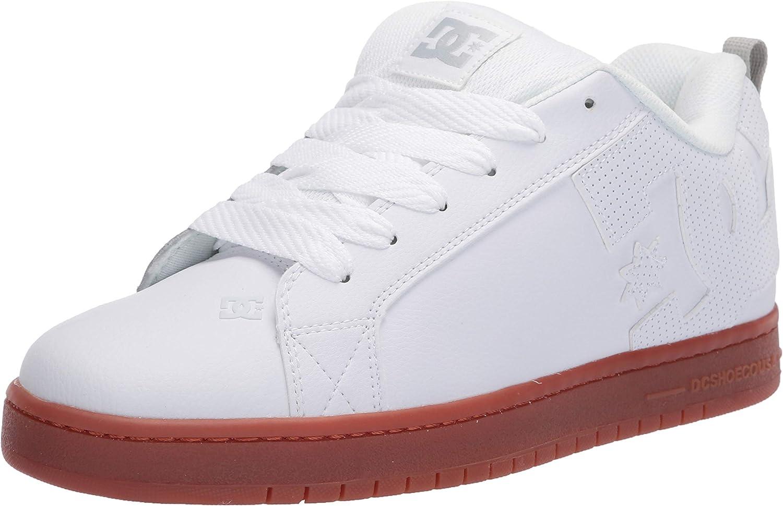 DC Court Graffik garçons Chaussures Chaussure-Bleu Marine Blanc Toutes Les Tailles