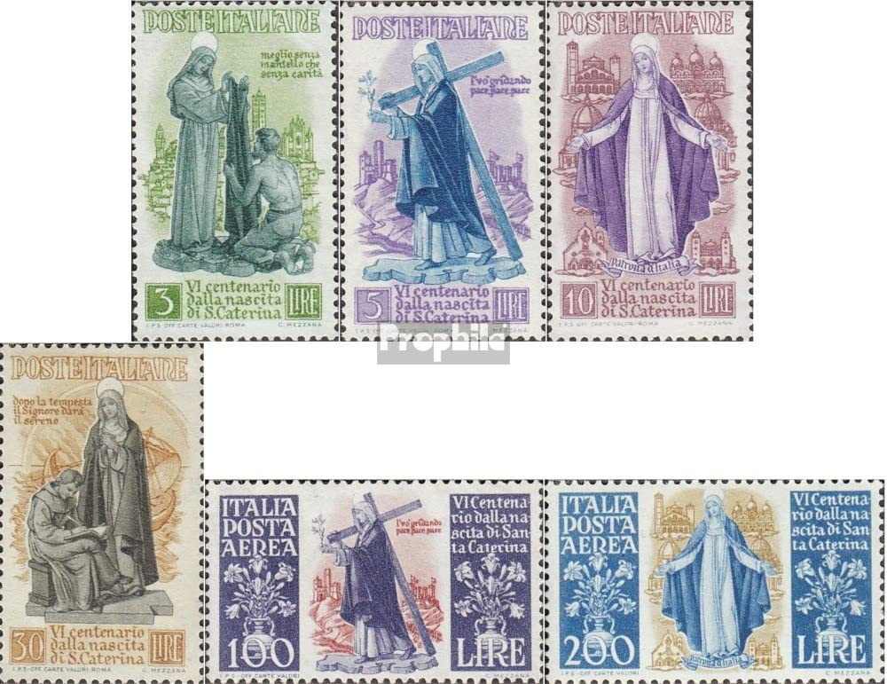 Prophila Collection Italia Michel.-No..: 740-745 (Completa.edición.) 1948 Katharina por Siena (Sellos para los coleccionistas) Cristianismo: Amazon.es: Juguetes y juegos