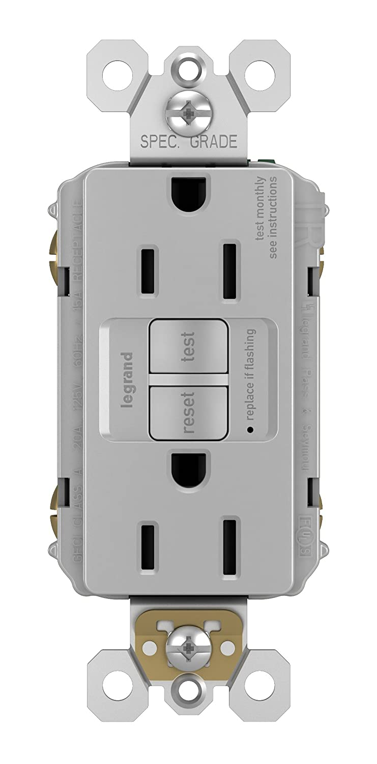 Legrand-Pass & Seymour 1597ICC10 Duplex GFCI Receptacle 15-Amp/125V 20A Feed Thru, Ivory Pass & Seymour/Legrand
