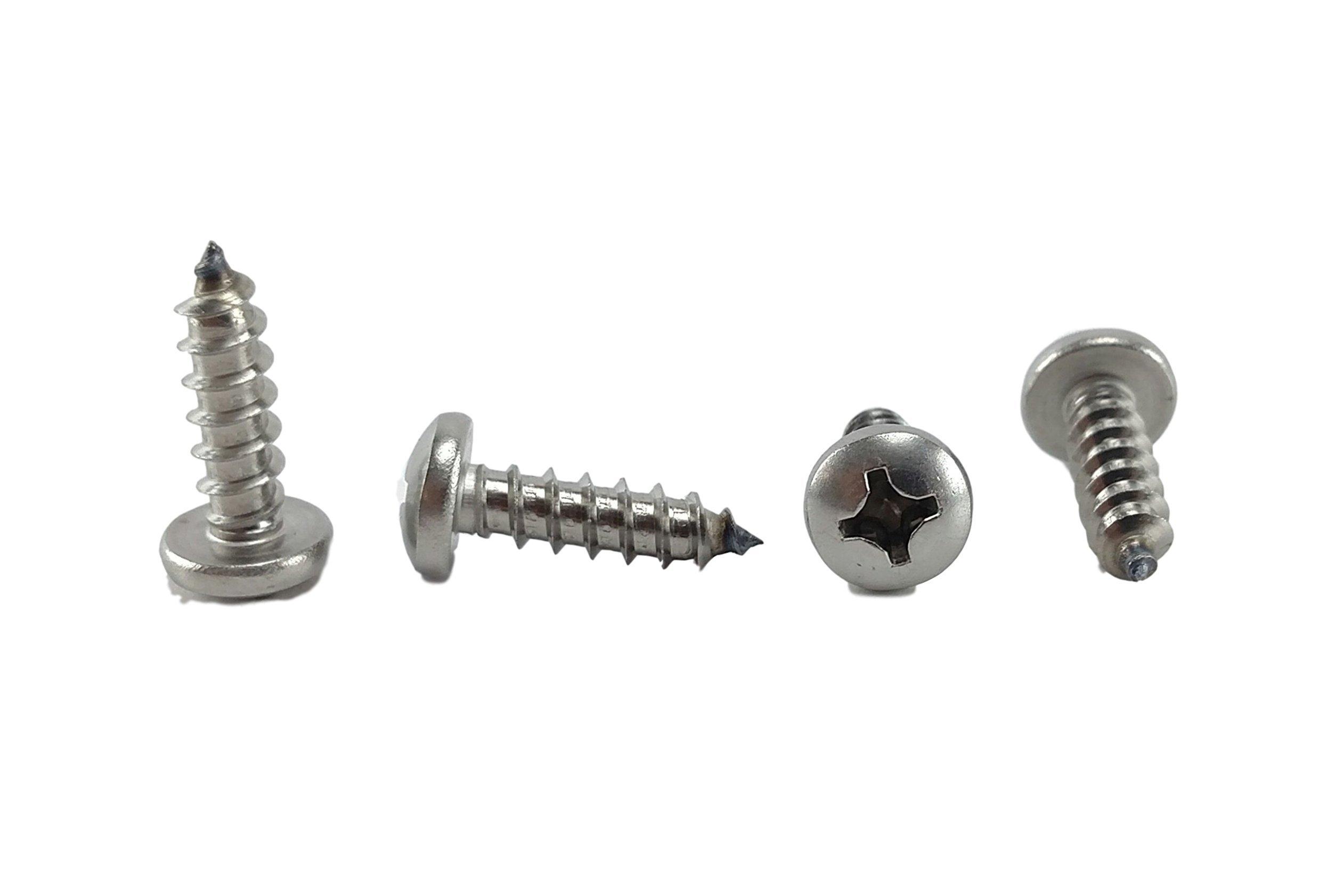 #12 X 3/4 Stainless 18-8 Phillips Pan Head Sheetmetal Screw (1/2'' to 2-1/2'' in Listing) 100 Sheet Metal Screws (#12 X 3/4 INCH)