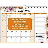 CRANBURY Christian Wall Calendar 2021-2022 - (Bible Verse) 8.5x11, Use Now to December 2022, Christian Calendar 2022 with Flo