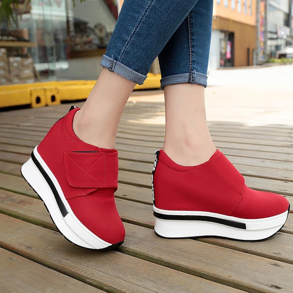 6b7751db9f5 VEMOW Women Ladies Girls Fashion Sneakers Sports Running Hiking Thick  Bottom Platform Shoes Home Sandals Thick