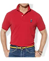 Polo by Ralph Lauren Red Solid 100% Cotton New Men's Polo Shirt