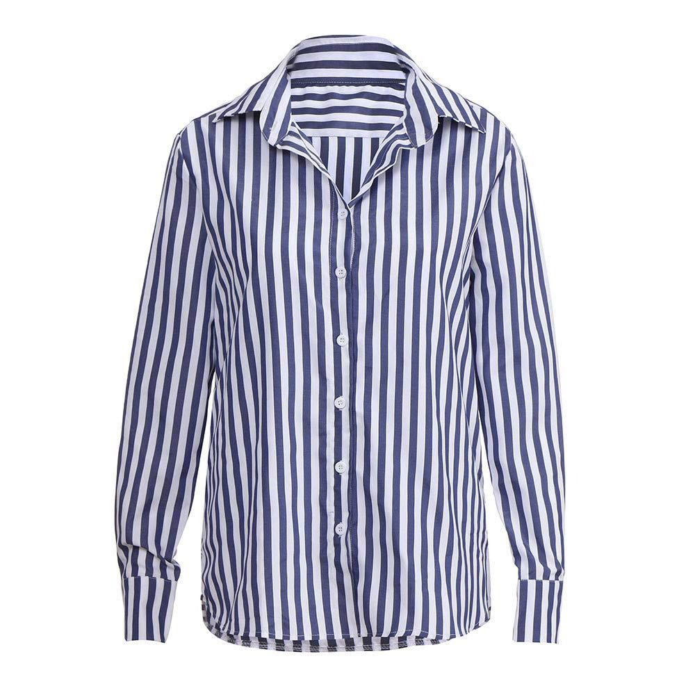 MEIbax Mode Frauen Gestreiften Hemd Casual Top T Shirt Damen lose Langarm Top Bluse