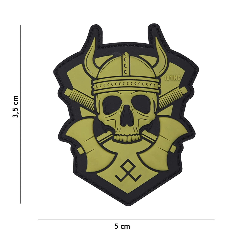 Tactical Attack Viking mit Axt gr/ün #16051 Softair Sniper PVC Patch Logo Klett inkl gegenseite zum aufn/ähen Paintball Airsoft Abzeichen Fun Outdoor Freizeit