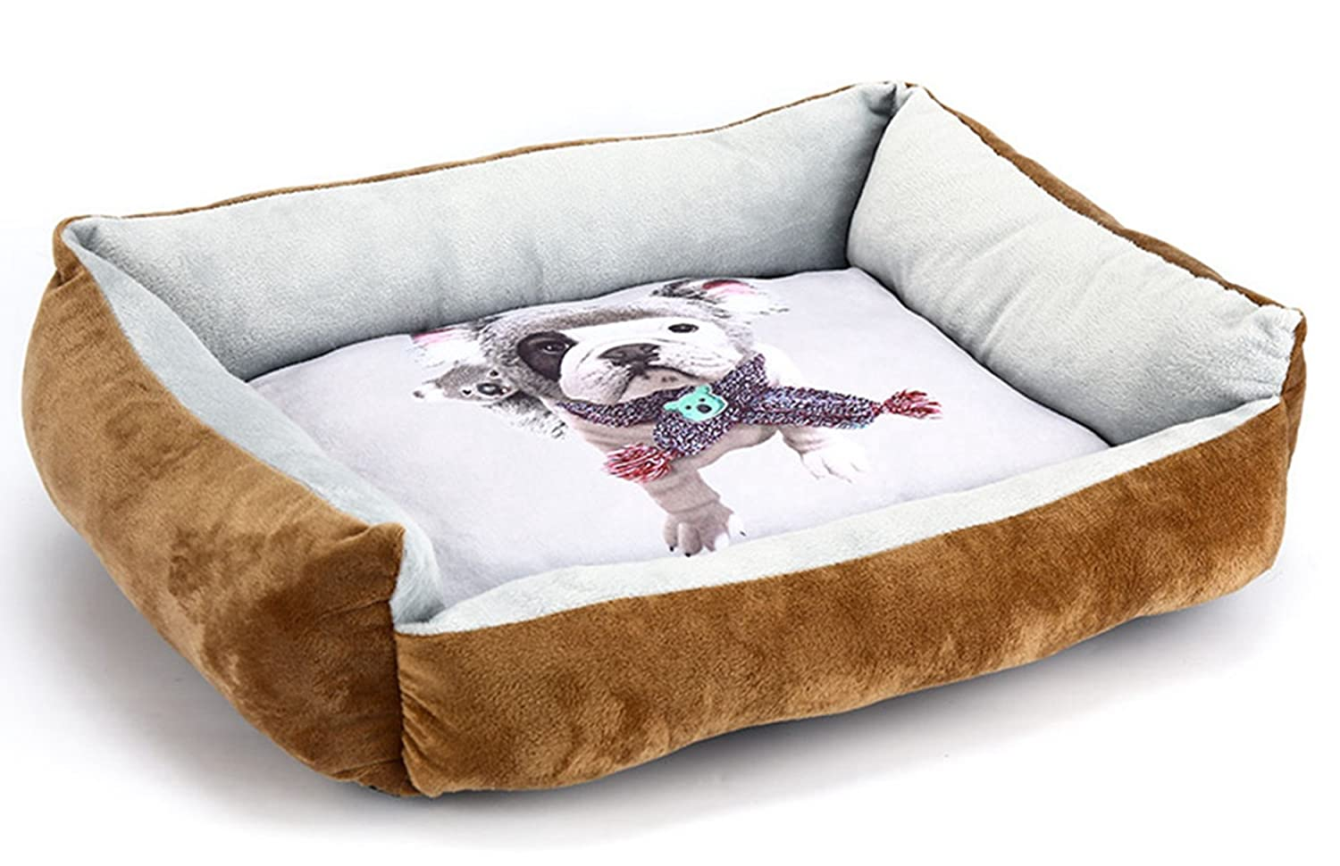 Brown S Brown S Washable Dog Bed Mat Pet Cat Sofa Cotton Puppy Kitten Kennels Warm Solid Pet Products for Small Large Dogs Cat