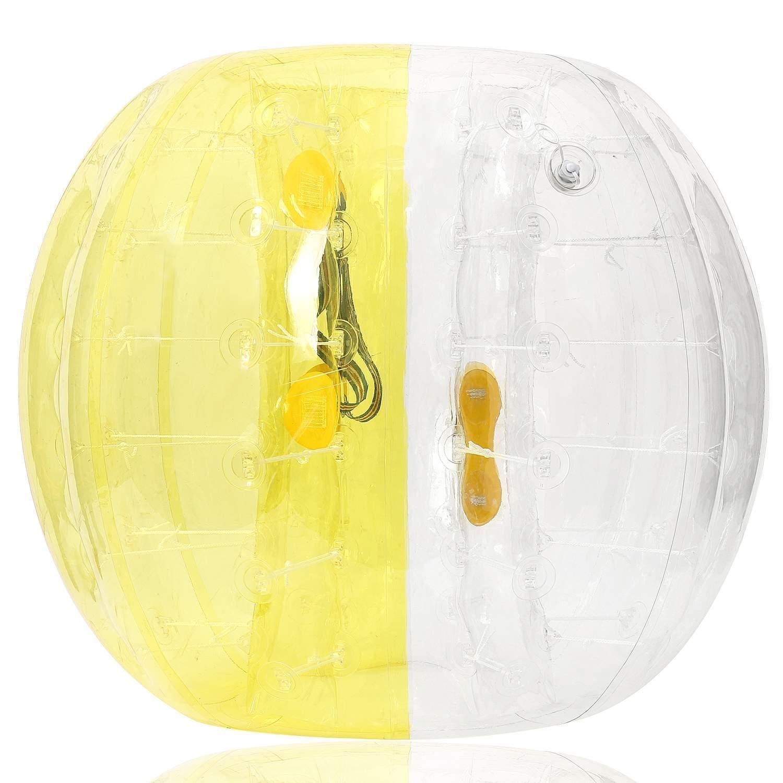 EleverバブルサッカーボールDia 1.5 M 5 FT、相撲バンパーBopper、インフレータブルボディバブルBbopボール子供&大人 B07CYPTYGF Yellow-white