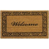 "Rubber-Cal ""Estate Style Welcome Doormat"" Coco Coir Mats, 24 x 57-Inch"