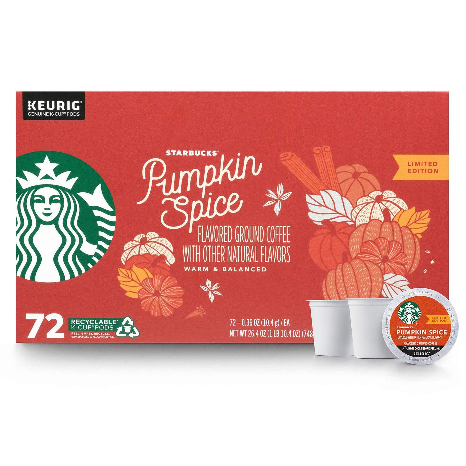 Starbucks Pumpkin Spice Flavored Coffee