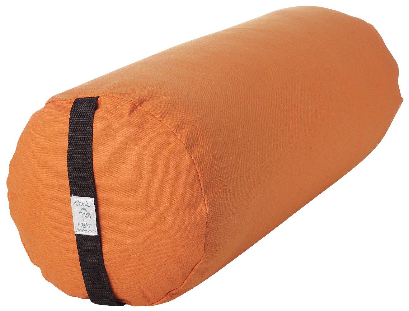 Bhekaラウンド100 %コットンヨガBolster (オレンジ)   B002DPQLGM