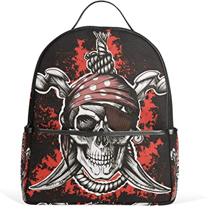 MUOOUM Cool Skull Crow Kids Backpack Pre-School Toddler Bag Travel Daypack