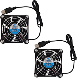 WINSINN 80mm USB Fan 5V Brushless 8025 80x25mm for Cooling DIY PC Computer Case CPU Coolers Radiators (Pack of 2Pcs)