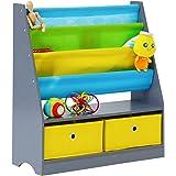 Kinbor Kids Toys Accessories Storage Organizer Rack Book Non Woven Fabric Bookcase
