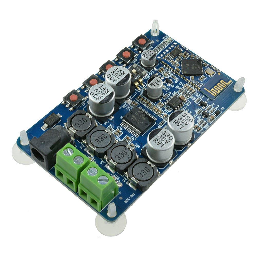Diymore TDA7492P 50W+50W CSR8635 2 x 50 Watt Dual Channel Amplifier with Two 8ohms Speakers DIY Module Wireless Digital Bluetooth 4.0 Audio Receiver Amplifier Board (Blue) by diymore