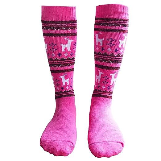 ff218a5c6 Ski Toddler Socks Little Boys Girls Winter Warm Sports Socks 1 Pair XS Pink