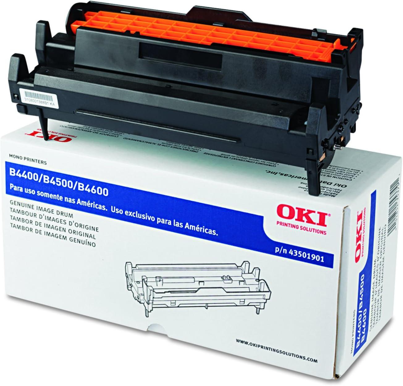 B4550 Works with: B4400 B4600 On-Site Laser Compatible Drum Replacement for Oki-Okidata 43501901 B4600N B4550N B4500 Black B4500N B4400N