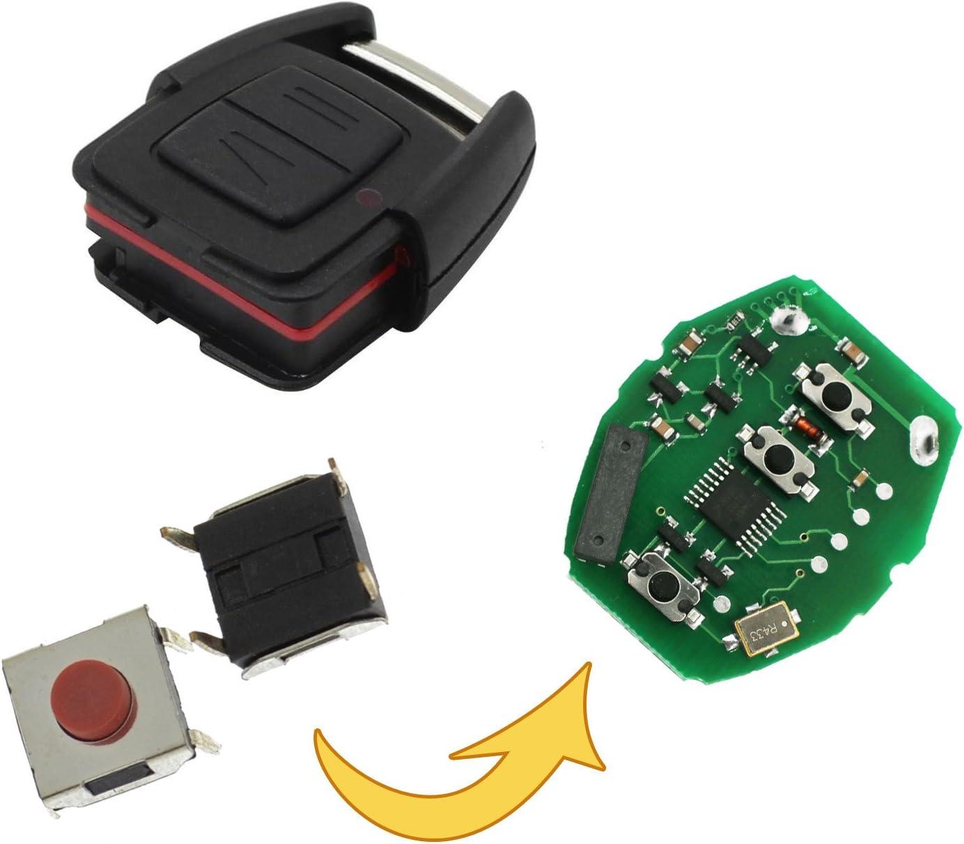 Microtaster Taster Fernbedienung Schlüssel Fernbedienung Taster Micro Smd Taster Autoschlüssel Opel Mp09 Auto
