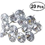 ROSENICE 25mm Sew Buttons Diamond Crystal Upholstery Nails Tacks Sofa Wall Decor 20Pcs