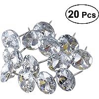 ROSENICE 25mm Coser Botones de Tapicería de Cristal