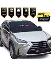 Windshield Snow Cover (Non-Scratch), ZACAR Windshield Cover with Mirror Covers for Winter, Blocking Snow, Sun, Fallen Leaves, Bird droppings. Fits Most Vehicle, Easy to Install