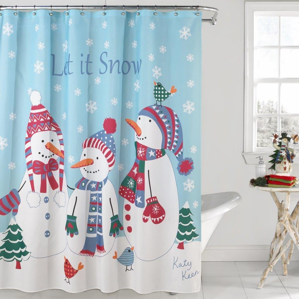 Kitchen Christmas Curtains Amazon Com: Snowman Bathroom Decorations And Accessories
