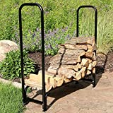 Sunnydaze 4 Foot Firewood Log Rack, Log Rack ONLY
