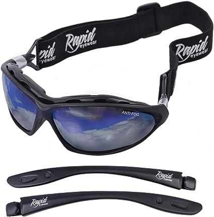 Mens Wrap Around Sports Ski Biker Designer Leisure Sunglasses White Black  Blue