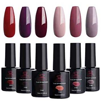 a2608d2e67 Makartt Red Gel Nail Polish Kit 10 ML 6 Bottles Perfect Glamour Goddess  Manicure Series UV