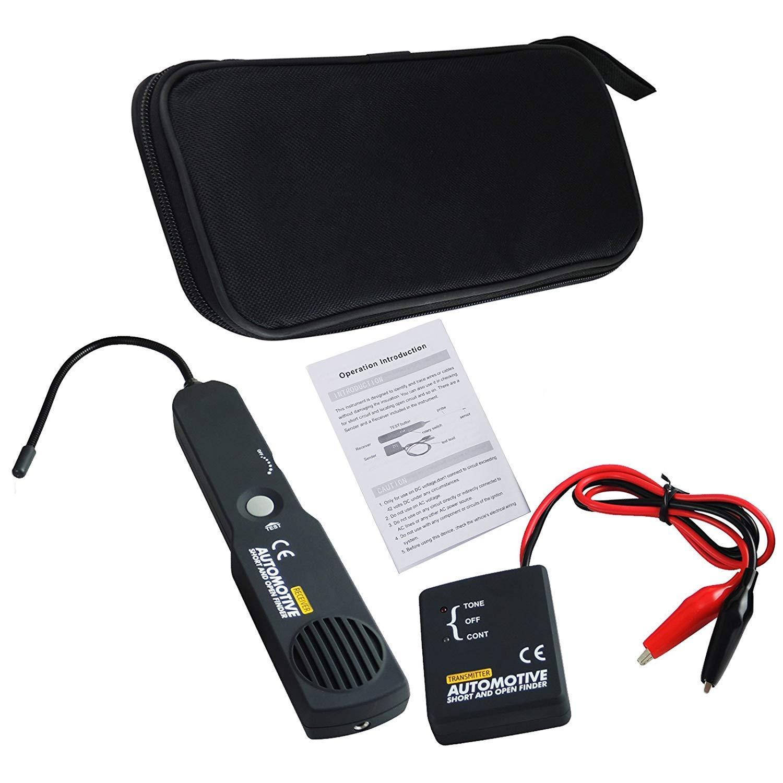 rastreador de cable de cable automotriz//buscador de circuito corto y abierto y trazador//probador//detector Herramienta de diagn/óstico del esc/áner de circuito de coche digital