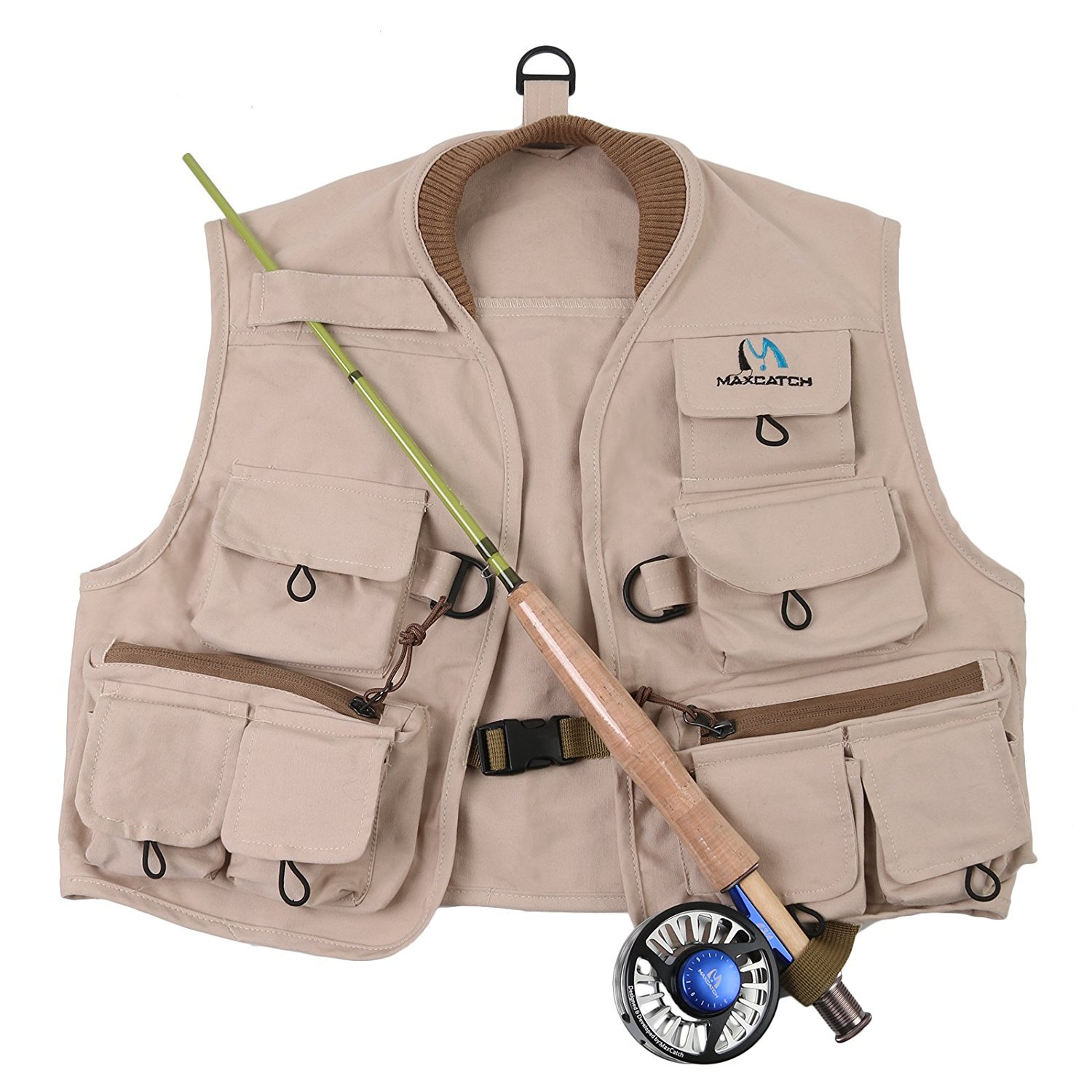 Maxcatch Kids Fly Fishing Vest Youth Vest Pack cotton Tackle