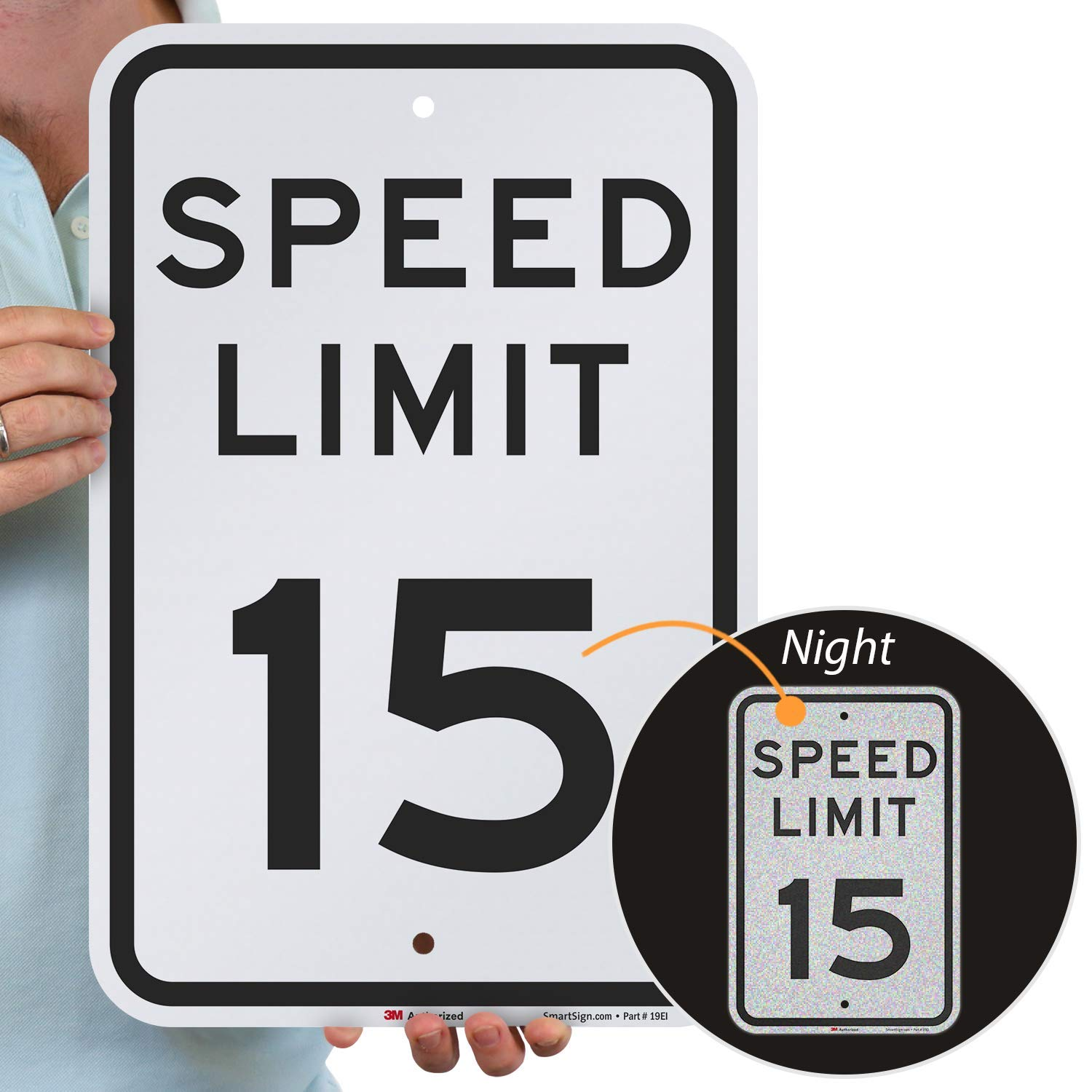 "SmartSign ""Speed Limit 15"" Sign 