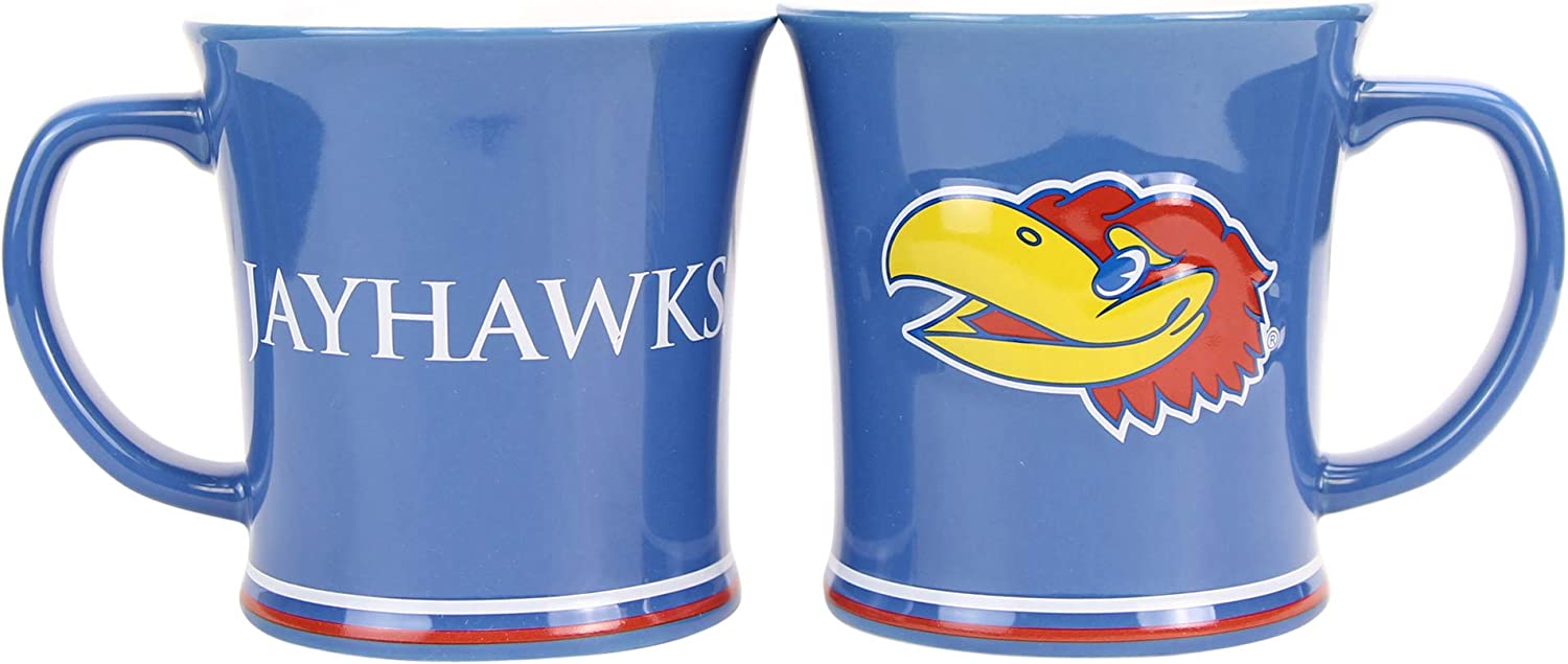 Boelter NCAA Collegiate 15oz Full Color Sculpted Coffee Mug 2-Pack