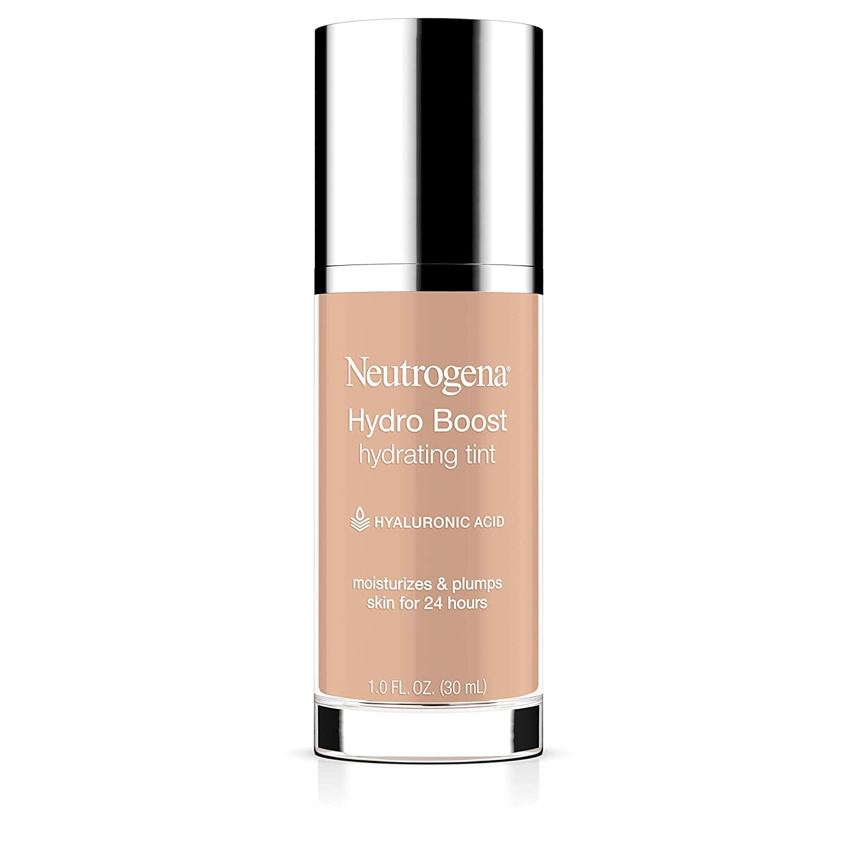 Neutrogena Hydro Boost Hydrating Tint with Hyaluronic Acid, Lightweight Water Gel Formula, Moisturizing, Oil-Free & Non-Comedogenic Liquid Foundation Makeup, 30 Buff Color, 1.0 fl. oz : Beauty
