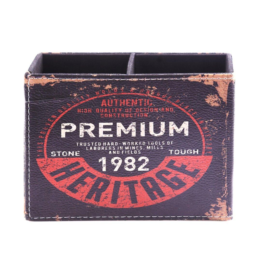 11,2 LoKauf Vintage Portapenne da Scrivania Telecomando Matita Portapenne Organizer per Casa Ufficio 15,5 7 cm