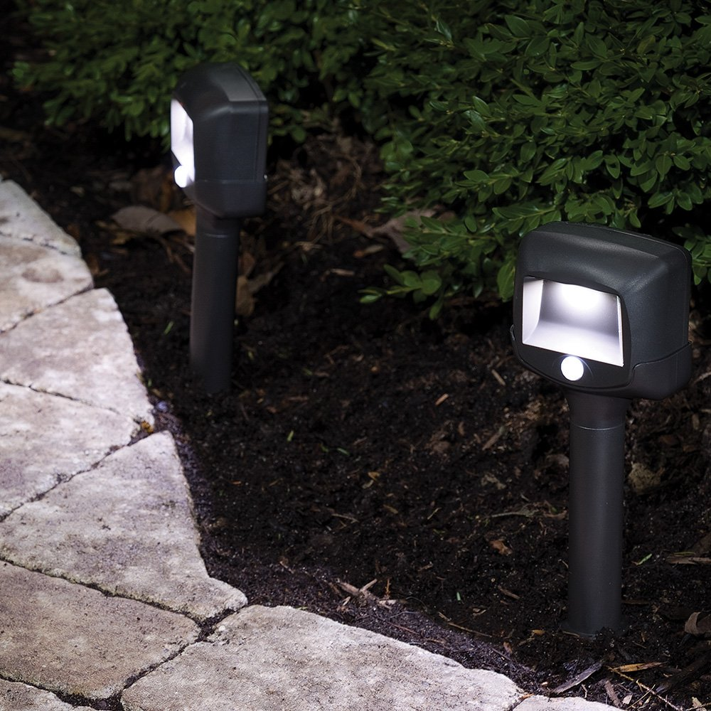 Mr. Beams MB572 Wireless Battery-Powered Motion Sensing LED Path Lights, 2-Pack, Brown 51yflFdypJL