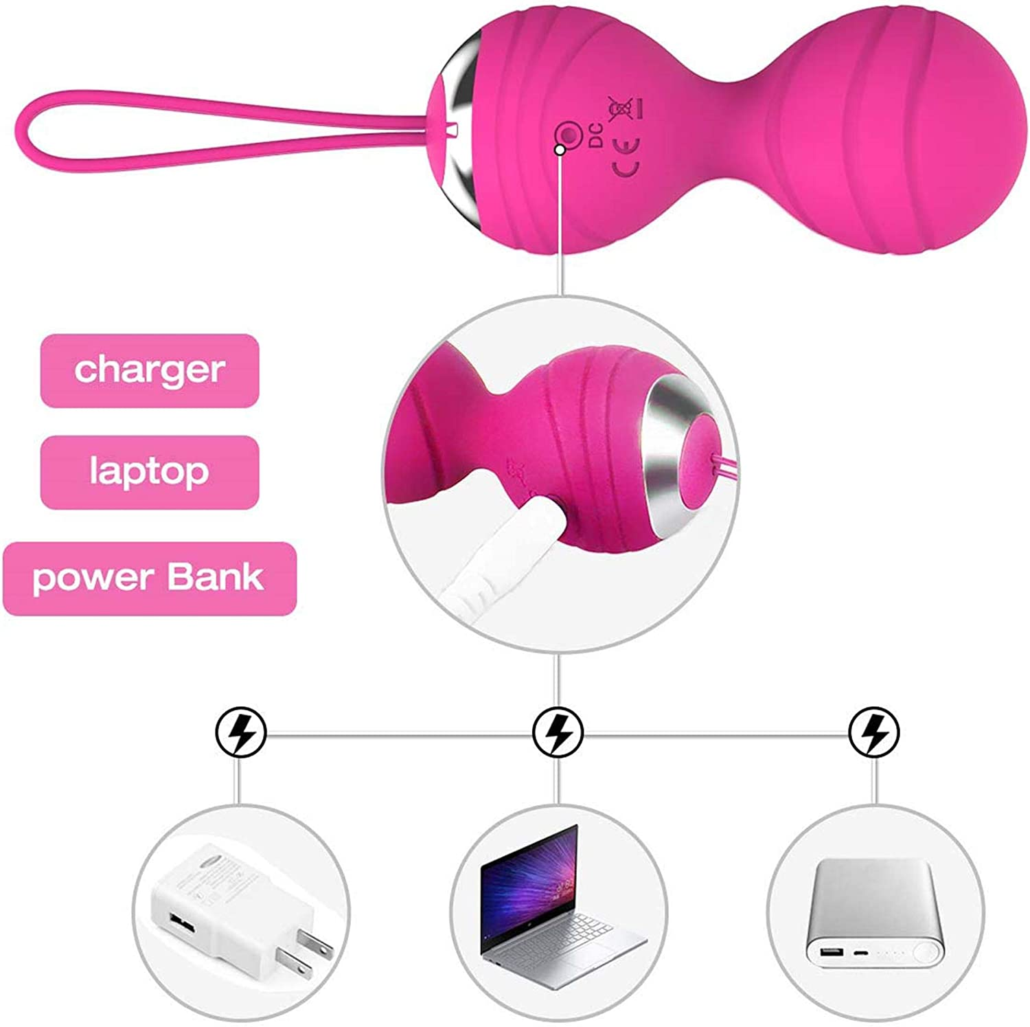 Abandship 2 in 1 Kegel Balls Kit - Kegel Exercise Weights Products for Women, 3 Weights Ben Wa Kegel Balls for Beginners & & Advanced, Doctor Recommended for Bladder Control and Pelvic Floor Training: Health & Personal Care