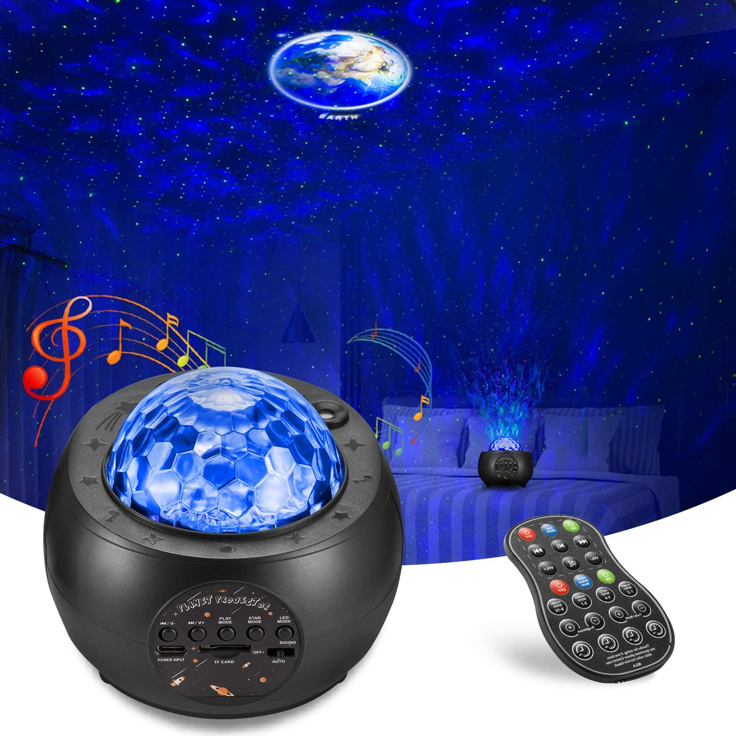 Galaxy Nippon regular agency Max 80% OFF Projector AOELLIT Star with Light Moon Skylight