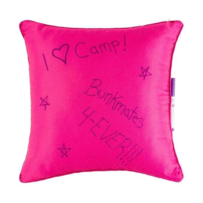 Amazon.com: 3C4G Camp Vibes Autograph - Cojín, color rosa ...