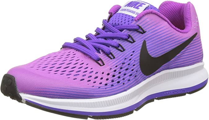 Nike Zoom Pegasus 34 Gs, Zapatillas de Running para Niños, Morado (Hyper Violet/black/purple Agate/hyper Grape), 36.5 EU: Amazon.es: Zapatos y complementos