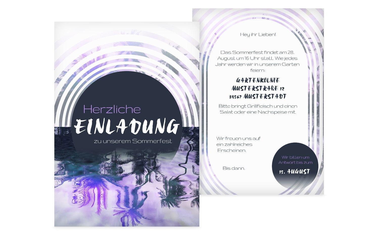 Einladung Sommerfest Sonnenaufgang, 60 Karten, HellgrauLila B0744G2YJF   New Products    Offizielle    Spielzeugwelt, glücklich und grenzenlos