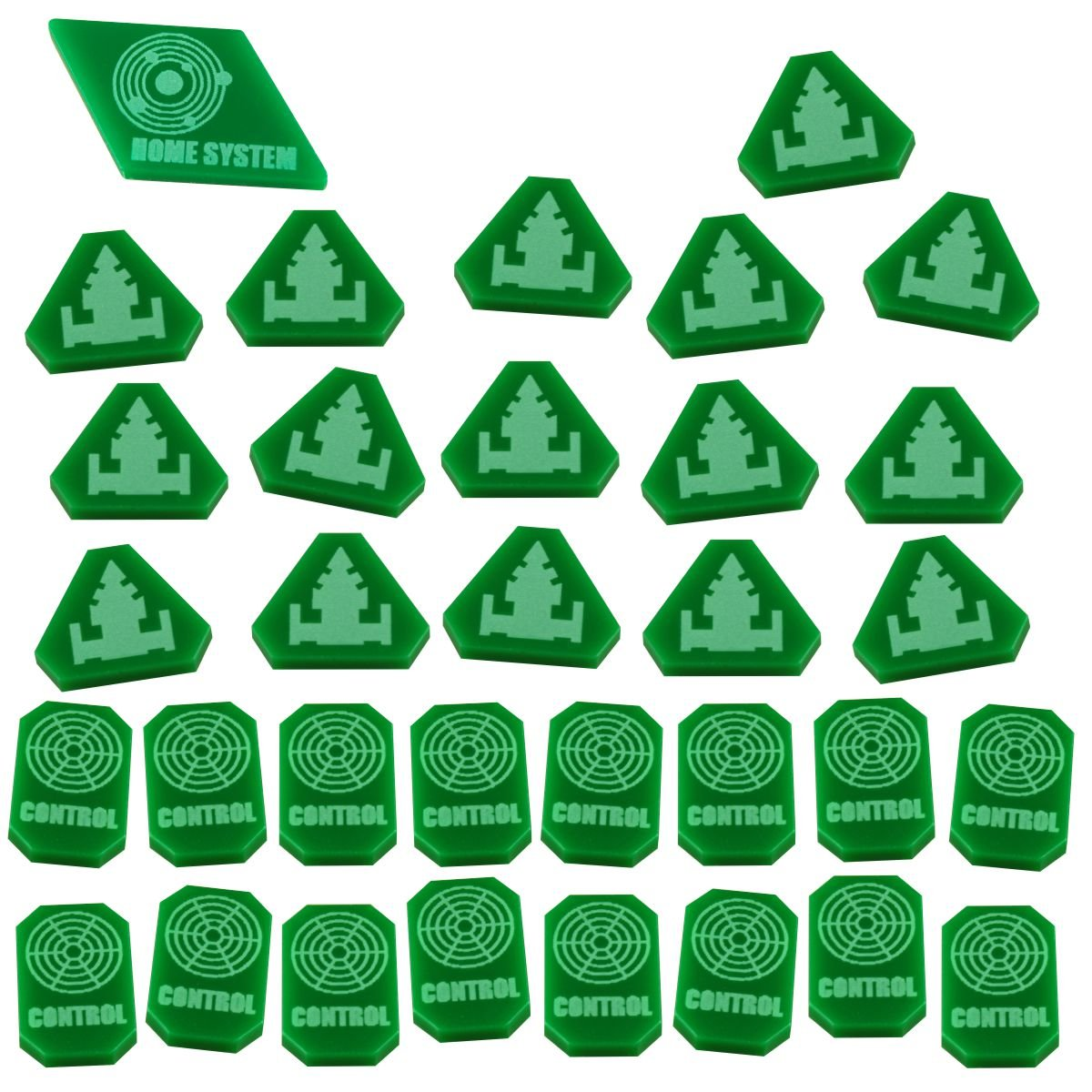 LITKO TI4: Command & Control Token Set, Green (33) by LITKO