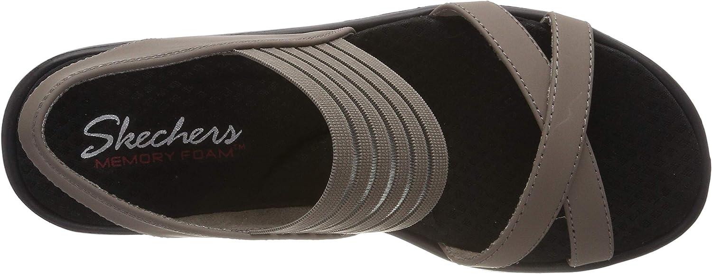 Skechers Rumblers-Solar Burst, Sandali a Punta Aperta Donna Beige Taupe Tpe