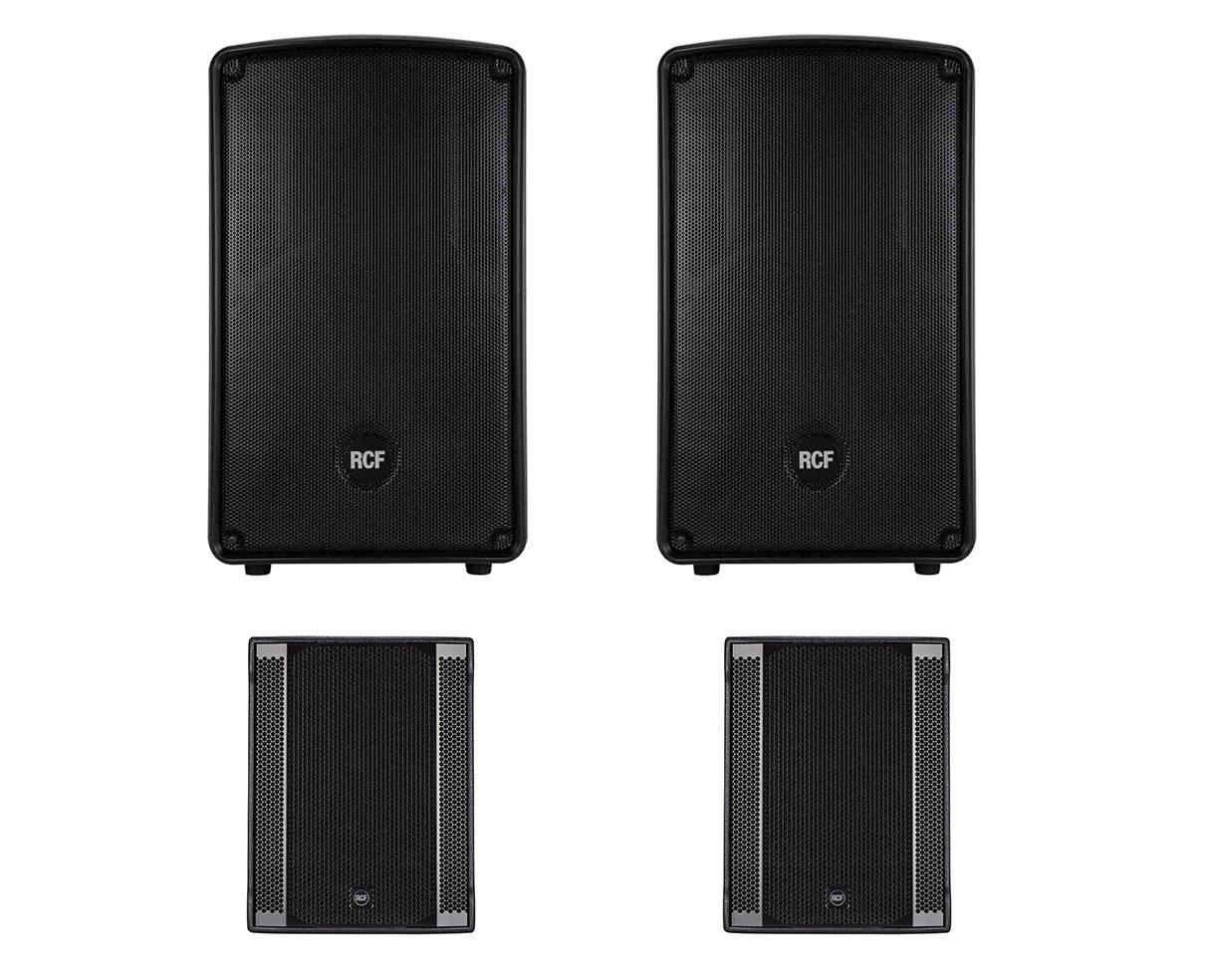 2x RCF HD 12-A MK4 + 2x RCF Sub 708-AS II Active Speaker / Subwoofer 2.2 System